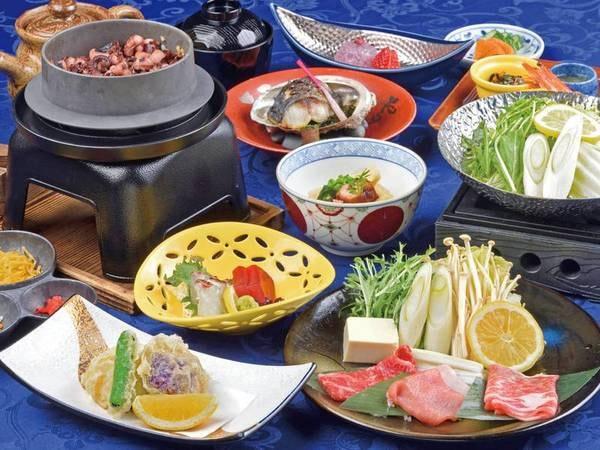 【夕食日本料理/例】彩豊かな和会席を頂く