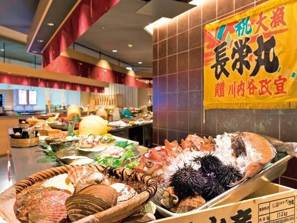 【夕食バイキング/例】野趣あふれる豪快な漁師料理が魅力!