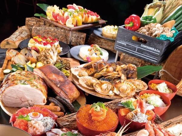 【夕食バイキング/例】道南の食材を中心としたバイキングは約150種類!
