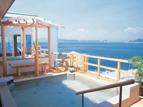 【長寿の湯】穏やかな紀淡海峡と沖の友ヶ島が織りなす海景色を楽しむ