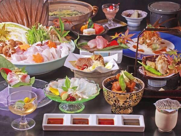 【本クエづくし会席/鍋は2人前例】紀州の味覚・本クエを様々な調理法で堪能!