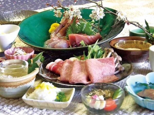 【夕食/例】美熊野牛を【ミニステーキ】【温泉しゃぶしゃぶ】【すき焼き】から個人選択