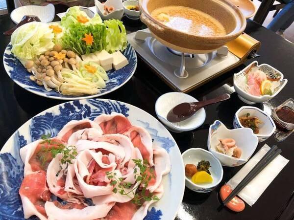 【グレードアップコース】 イノブタ堪能!美人鍋プラン/一例