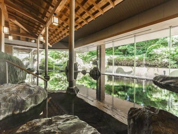【曲水の庭 ホテル玉泉】【男女各200名同時入浴できる大浴場が自慢】美しい日本庭園を愛でる、玉造温泉随一の規模を誇るホテル。