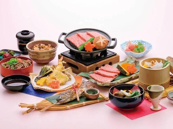 地元産和牛陶板焼き会席/例