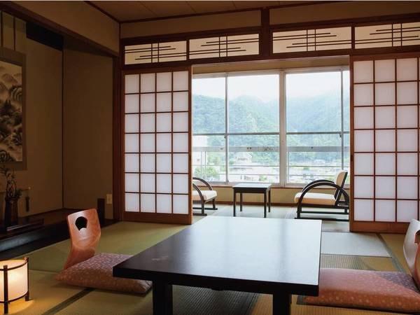 客室は宿おまかせの和室をご用意 ※写真は一例、客室までは階段利用