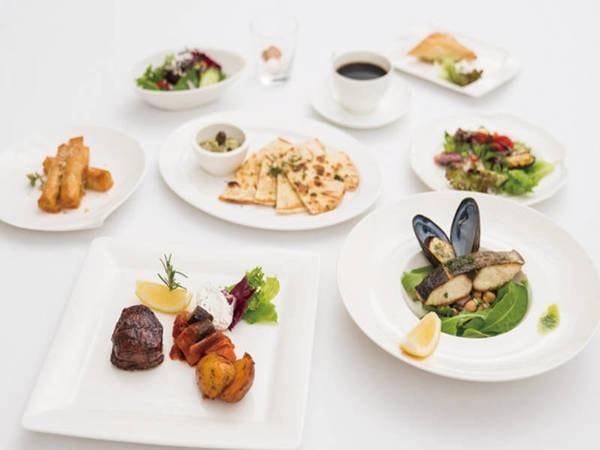 【瀬戸内鮮魚の海のいけす料理&ギリシャ料理/例】夕食のメインをいけすの中から選択