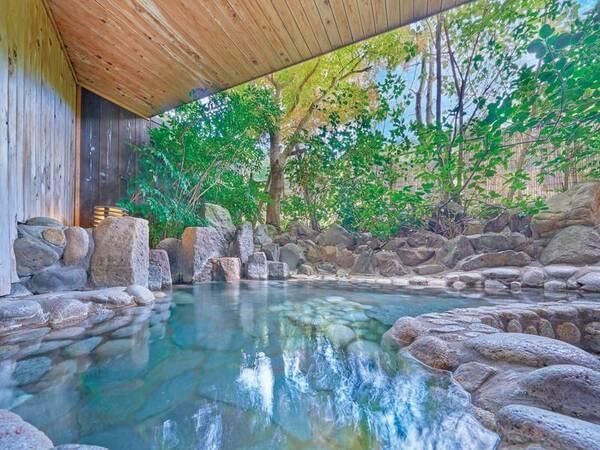 【湯快リゾート 輝乃湯】<7/10より待望のバイキングが「安心」をテーマに復活! >庭園露天風呂で贅沢に愉しむ源泉かけ流し