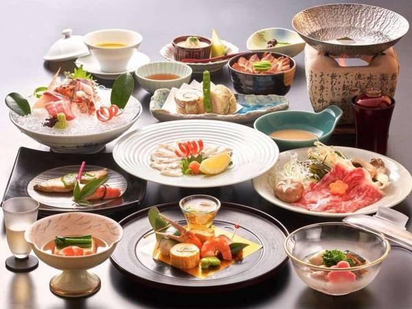 【料理グレードアッププラン/夕食一例】3パターンある料理ランクのうちの真ん中のランクの会席