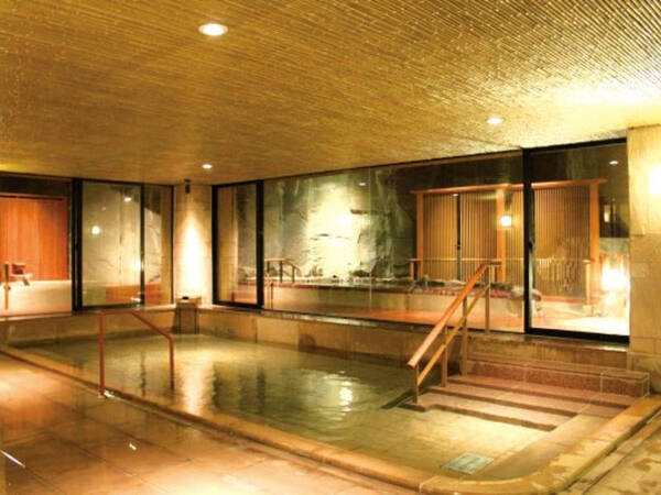 【平安の湯 楽(らく)】洗練された上品な空間でゆったりと宮浜温泉の湯を堪能