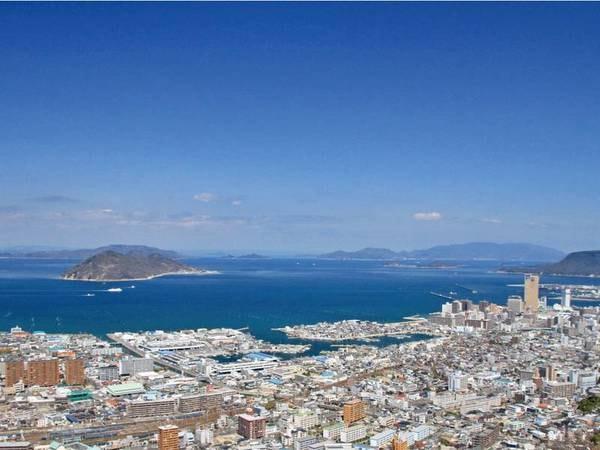 【宿からの景色】高松市街や瀬戸内海を見渡す