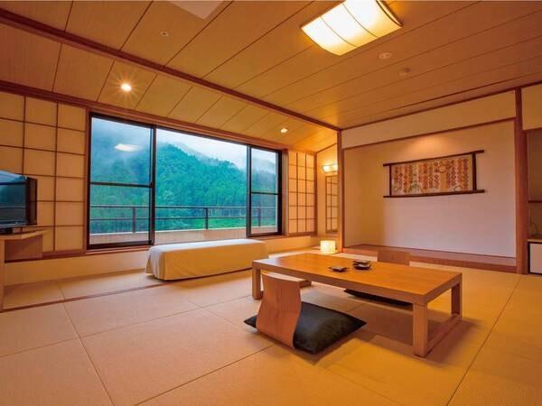 【客室/例】山々を望む12畳和室をご用意/例
