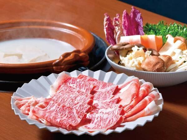 【佐賀牛湯豆腐しゃぶしゃぶコースイメージ】最高級銘柄「佐賀牛」と「若楠豚」がお楽しみいただけます