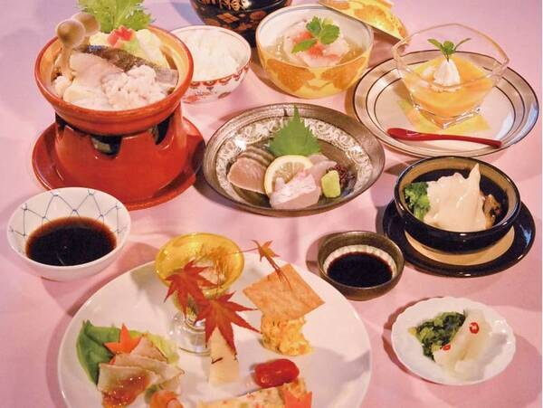 【夕食/例】クチコミ高評価!旬食材を使用。その日一番おいしいものを