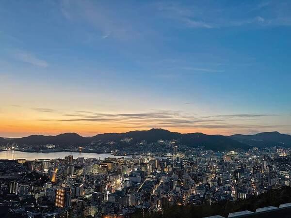 長崎の夕景/宿眺望例