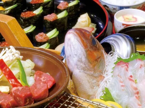 【[2大味覚]和牛&地魚のお造りプラン/例】地魚のお造りと和牛陶板焼きを楽しむ(お造りは個別盛りとなります)