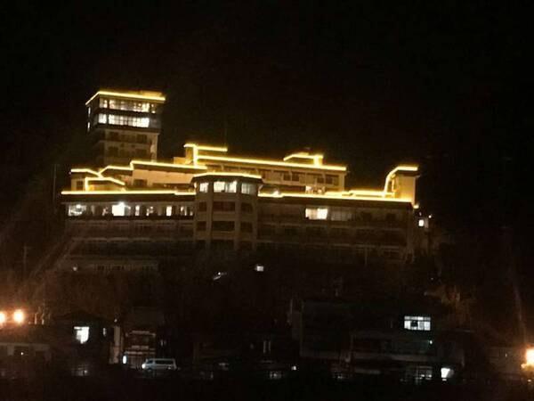 旗松亭の夜景