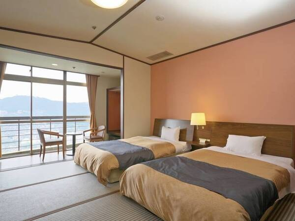 【ツイン客室/一例】夜景は望めない分、お値打ち価格の山側客室