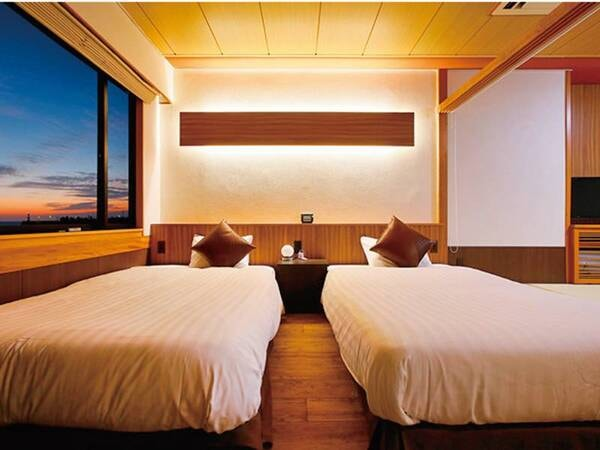 海側和洋室ベッド/例