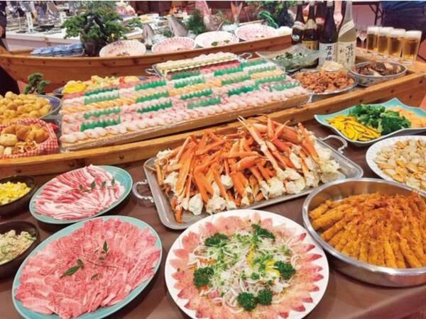 【飲み放題/蟹&和牛付バイキング/例】平戸名物ヒラマ・海老・イカ、季節の旬魚などの握り寿司も