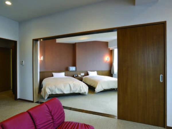 5階以上で眺望抜群の『6畳+ツイン』和洋室/例