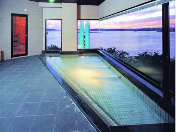 【大浴場】大海原を大浴場からも望める