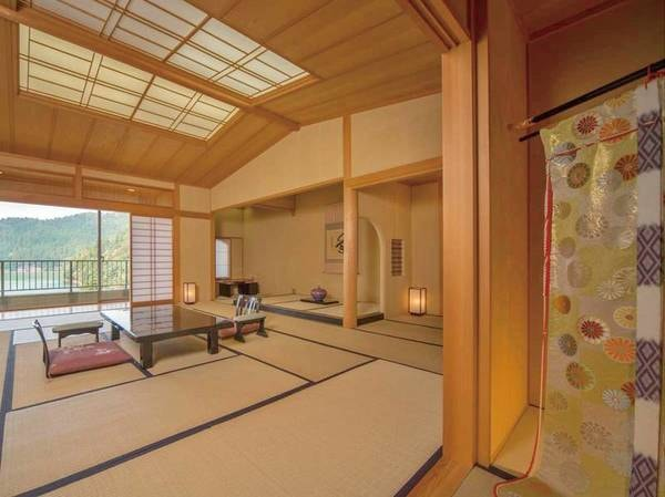 【貴賓室】東の間和室+和室+茶室+檜風呂