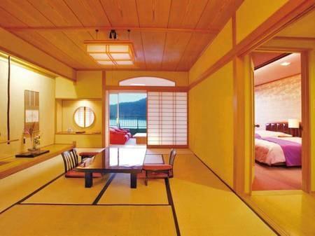 池を望む【和洋室】和室+洋室+ベッド/一例
