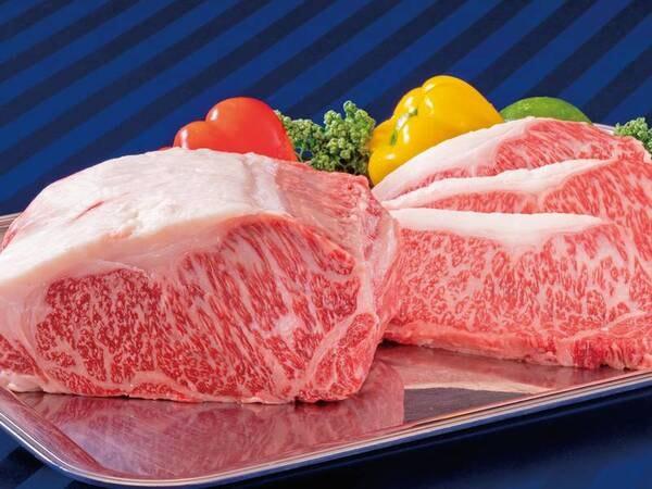 3月まで期間限定!実演の黒毛和牛ステーキ/例