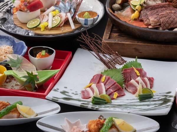 【極(kiwami)会席/例】特上の阿蘇産あか牛の他、料理長が厳選した極上の食材を使った季節感溢れるお料理をご堪能ください