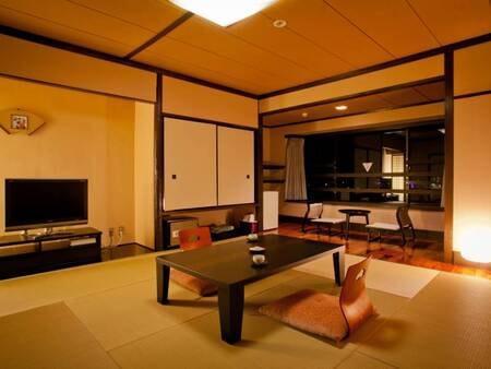 <【1番館】6Fモダン 和室/例>モダンで優雅な気分になれる大人の雰囲気に仕上がっています