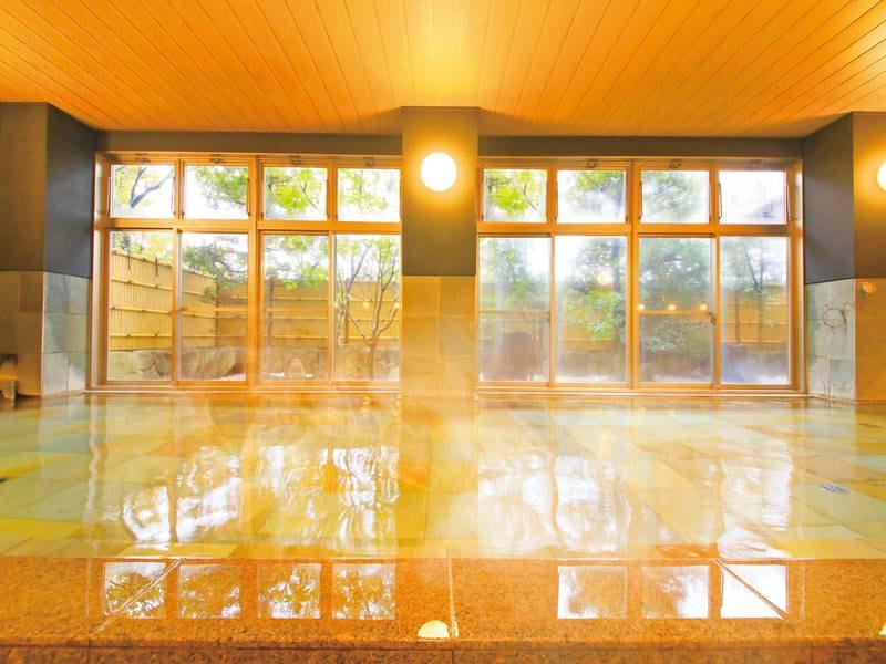ゆったりとした浴室~美肌湯で翌朝の違いを実感~