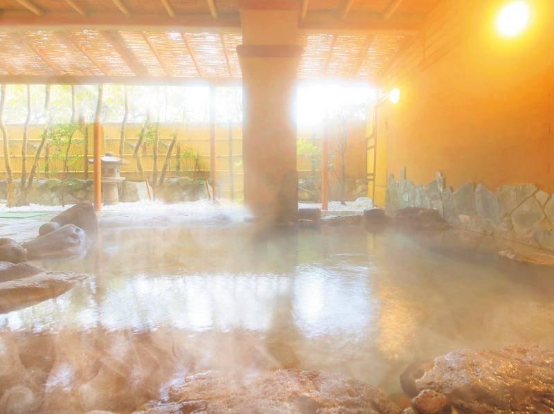 クレンジング効果抜群pH9.4『美人の湯』でごゆるりと……(天然ラドンを含むアルカリ性の温泉)