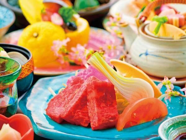【山鹿灯籠会席 一例】美味洗練を極めたお料理をお愉しみください……