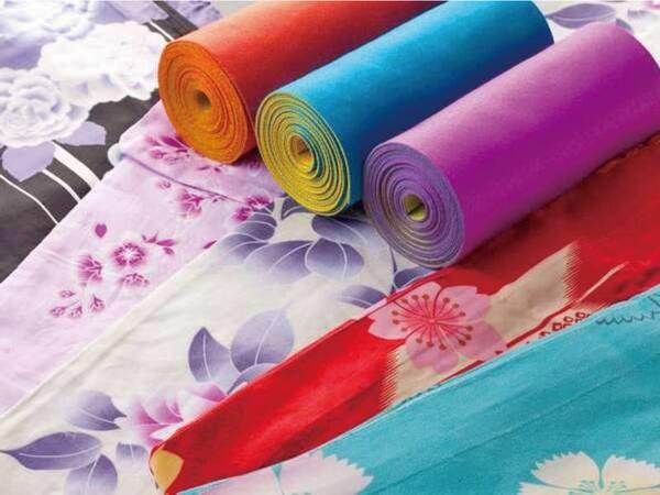 色浴衣:無料色貸出!色浴衣に身を包み、湯めぐりを愉しんでいただけます