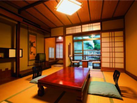 夕・朝食共に風情あるお部屋にご用意!ゆったりのんびりと自慢の料理を堪能(客室一例)