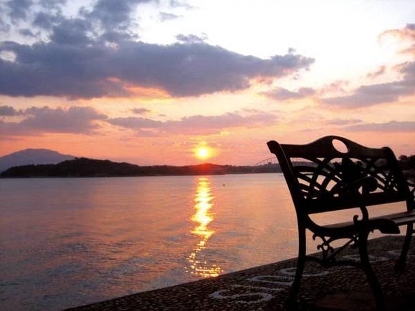 綺麗な夕日とともに/テラス例