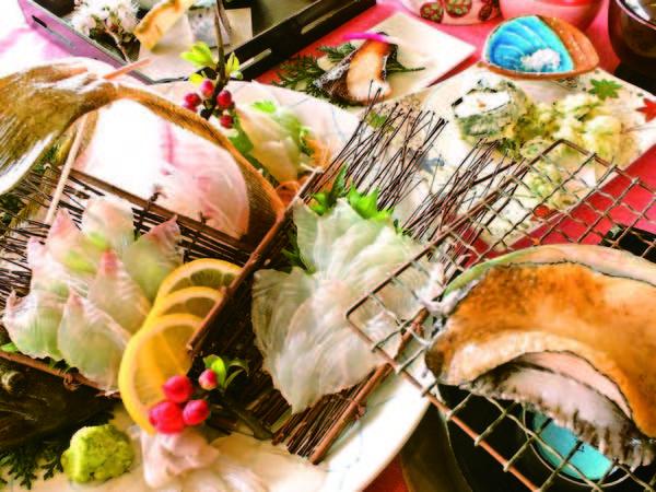 あわび・平目会席【夕食/例】天草産のふんだんに使った海鮮料理を味わえる♪
