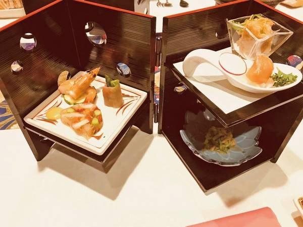 見た目も美しい料理が楽しめる。和洋会席/例