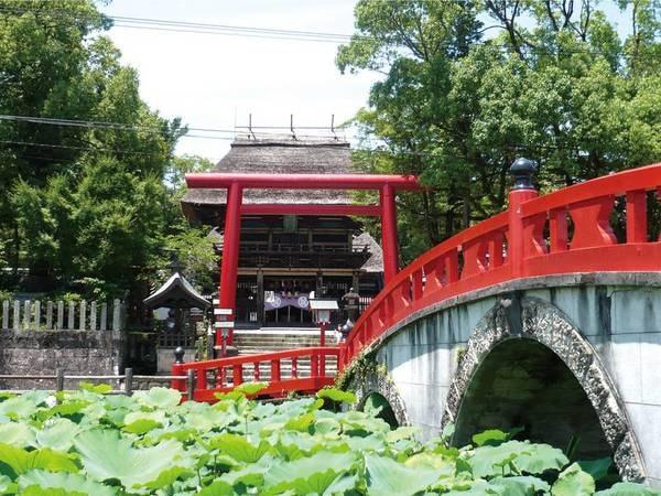 国宝である青井阿蘇神社は宿から徒歩10分強