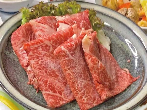 【あか牛すき焼き付き特別料理/例】たっぷり130g!