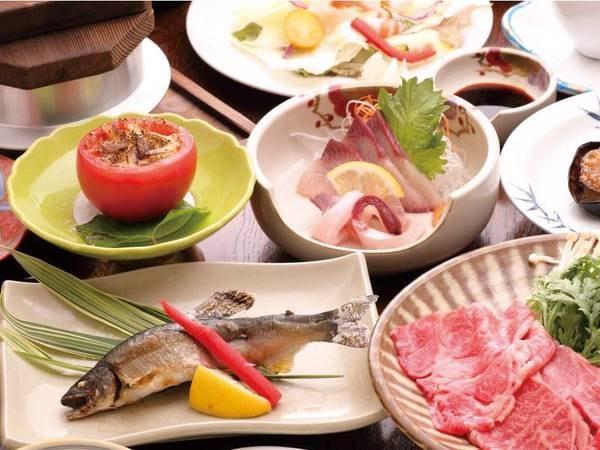 【国産和牛焼肉付会席/例】地元の食材をふんだんに使用した旬の創作料理と国産和牛を味わえる