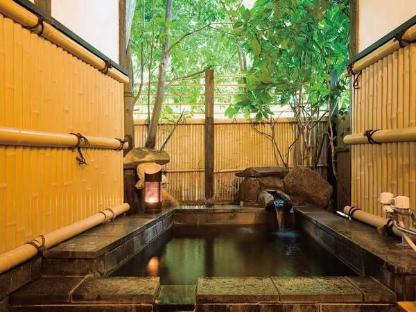 【露天風呂付離れ/例】お好きな時に何度でも!プライベート重視が嬉しい※部屋ごとに趣の異なるお風呂をご用意