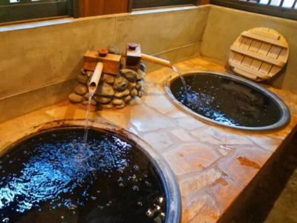 【宿潦ばん屋】お風呂は貸切だけの4種類、予約不要で時間も湯船も自由に選べ何度でも効能豊かな温泉を楽しむことができる