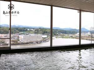 【夕映えの湯】眼下に広がる三隈川