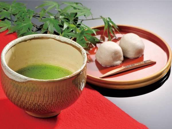抹茶・そば饅頭/例でおもてなし