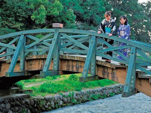 女性は無料色浴衣貸出!浴衣に身を包み日田の街を散策