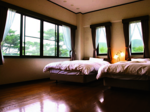 お部屋は和室+洋室の広々とした和洋室(一例)