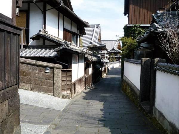 武家屋敷跡など歴城下町特有の面影を残した地域「二王座歴史の道:※宿から車で13分ほど