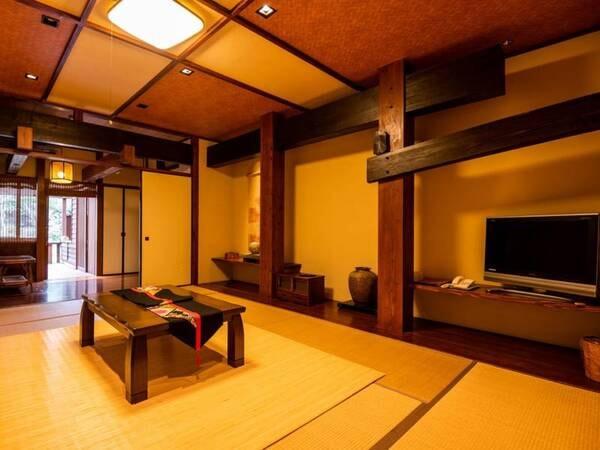 【露天付客室】壁や柱、調度品にもこだわりました。ごゆっくりお寛ぎください。